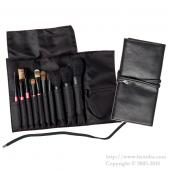 ca et la  Black Brush case with string  (Hold 10 brushes)