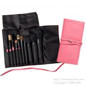 ca et la Pink Brush case with string (Hold 10 brushes)