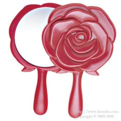 Romantic Rose Mini Hand Mirror YR-600 Red