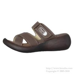 Nuts world  Cross Belt Sandals Dark Brown S